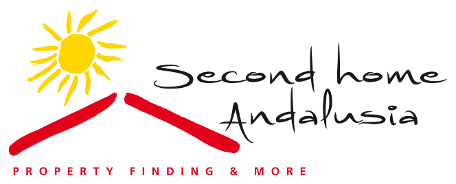 Logo of real estate agency Second Home Andalusia with our slogan: Property Finding and more